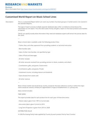 Customised World Report on Music School Lines