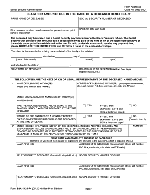 2012-2017 Form SSA-1724-F4 Fill Online, Printable, Fillable, Blank ...