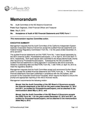 how to prepare audit memo