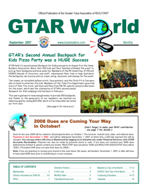 Fillable Online Gtar World September2007 Pmd Tulsarealtors Com Fax