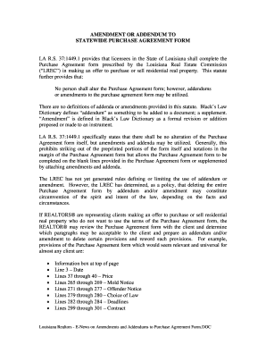 Louisiana Purchase Agreements Form  Purchase Agreement Template