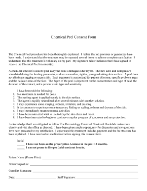 Fillable Online Chemical Peel Consent Form - Realpagessites.com ...