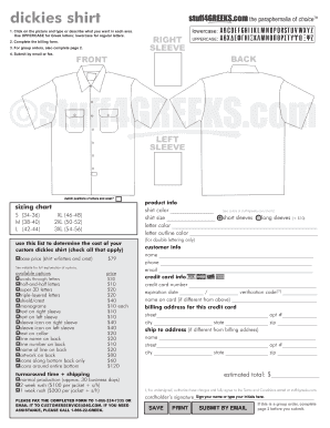 Embroidery order form pdf fill online printable for Embroidery order form template free