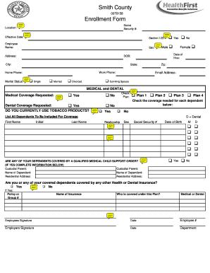 Enrollment Form 2012 - Smith County