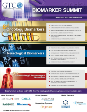 s Biomarker Summit will discuss a wide range of issues such as biomarker identification and