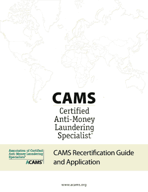 CAMS Recertification Guide and Application - Amazon Web Services