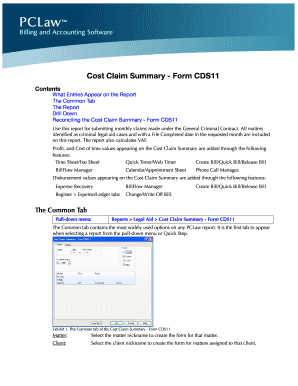 Cost Claim Summary - Form CDS11 - LexisNexis Support Center
