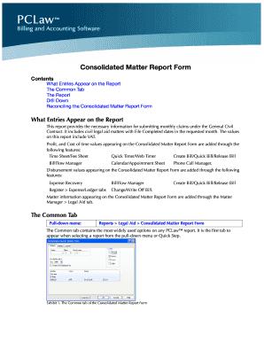 Consolidated Matter Report Form - LexisNexis Support Center