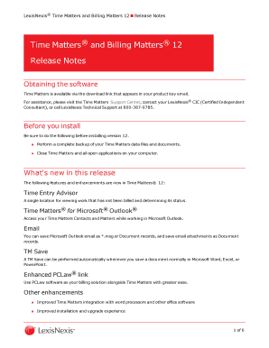 Time Matters 12 Release Notes - LexisNexis Support Center