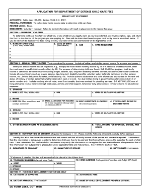 Fillable Online DD Form 2652, Application for Department of ...