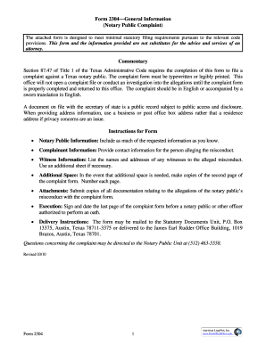 Texas Secretary Of State 2304 2010 Form