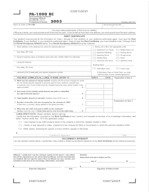 rate this form - Rent Rebate Form