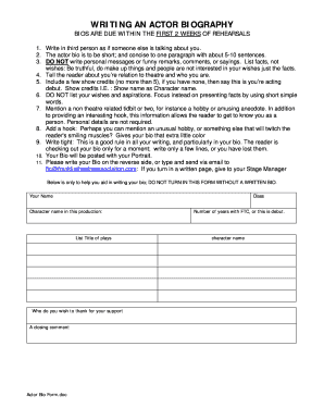 Acting Forms To Fill Forms Please Fill Online Printable