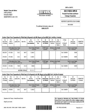 Fillable Online Sample 1099-B Tax Form Fax Email Print - PDFfiller