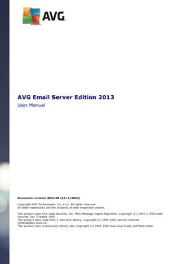 AVG Email Server Edition 2013 User Manual Document revision 2013
