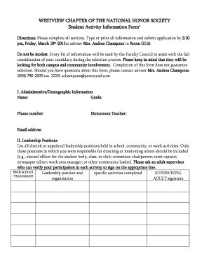Society Activity Information Form - Fill Online, Printable ...