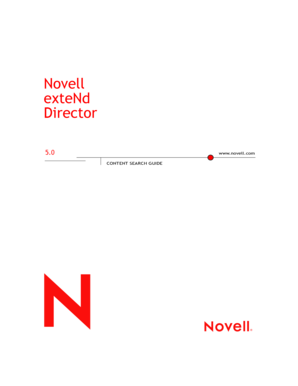 Content Search Guide - Novell
