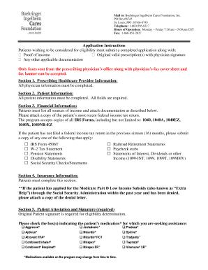 Pentasa Patient Assistance Program Application