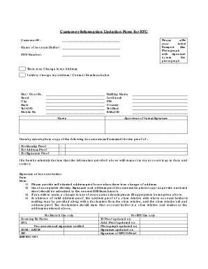 Editable idbi miscellaneous request form for individual