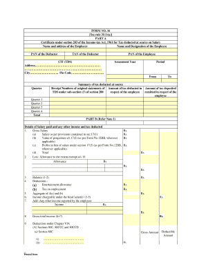 Form 16 Sample - Fill Online, Printable, Fillable, Blank