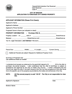 Printable Sample letter of offer to purchase property - Edit, Fill