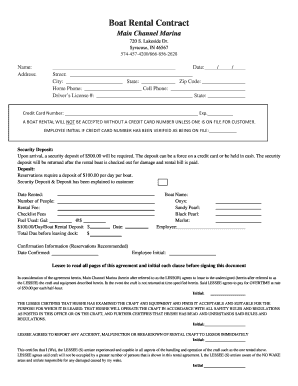 Contract From L Pdf Boat Fill Online Printable Fillable