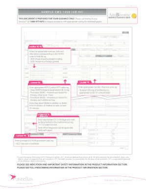 Fillable Online Sample CMS-1450 (UB-04) Claim Form ...