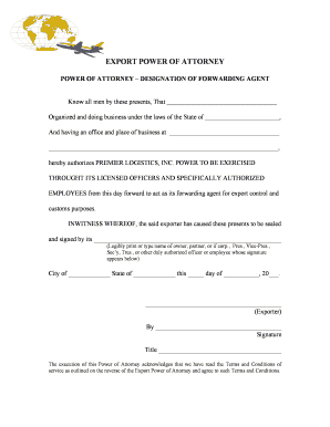 Export power of attorney form edit fill out download export power of attorney form form pronofoot35fo Gallery