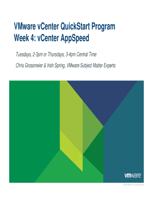 Fillable Online VCenter QuickStart Program Week 4 pdf - VMware