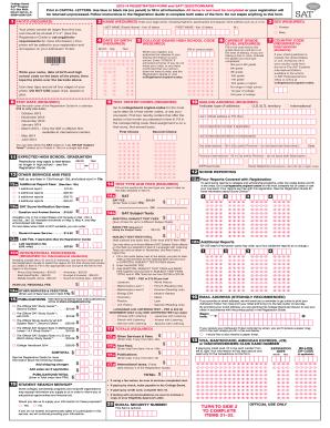 Get sat registration form 2017 - PDFfiller