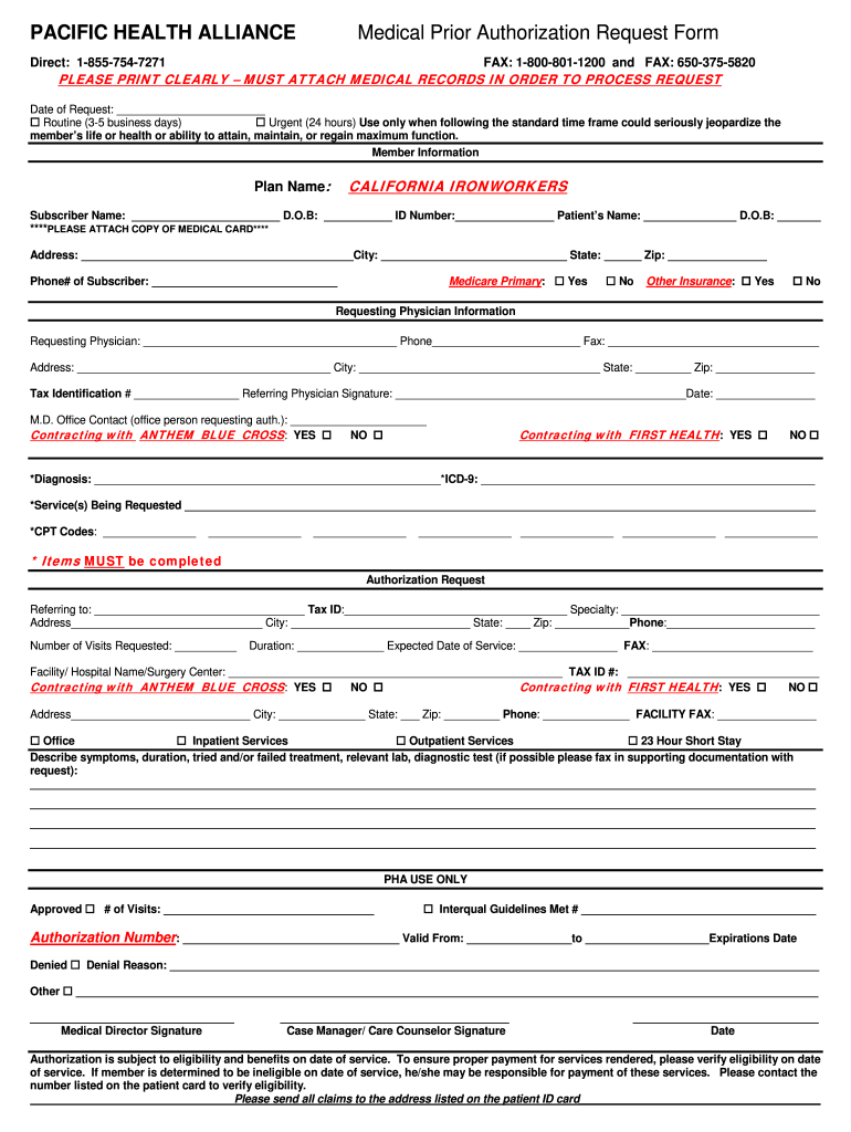 Regal Medical Group Authorization Form