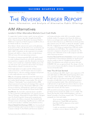 The Reverse Merger Report 4Q05