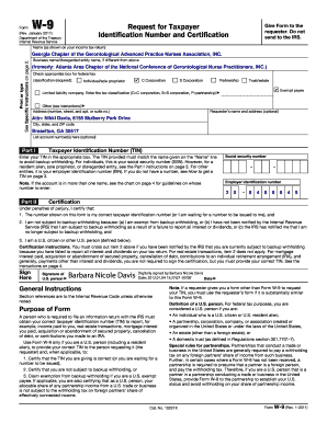 Fillable Online Form W-9 (Rev. January 2011) - Amazon Web Services ...