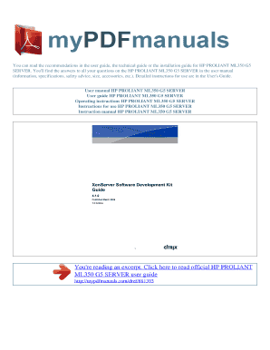 hp proliant ml350 g5 manual pdf fill online printable fillable rh pdffiller com hp proliant ml350 g6 manual pdf hp proliant ml350 g6 manual pdf