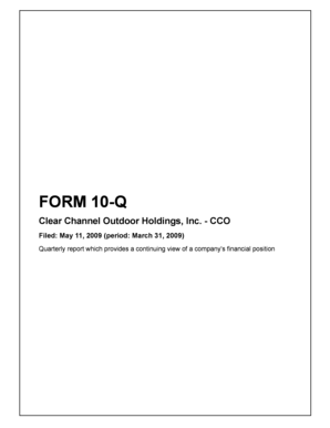 FORM 10-Q Clear Channel Outdoor Holdings, Inc