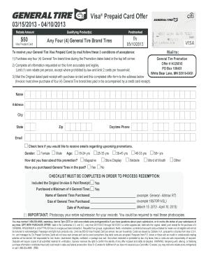 general tire rebate walmart General Tire Rebate Walmart - Fill Online, Printable, Fillable ...
