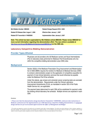MLN Matters Number MM5205