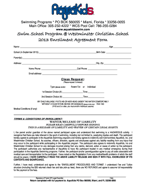 Fillable Online Please Click Here For A Printable Swim School Registration Form Fax Email Print