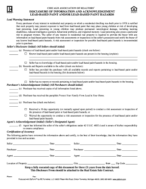 Bill Of Sale Form Illinois Lead Based Paint Disclosure Form ...
