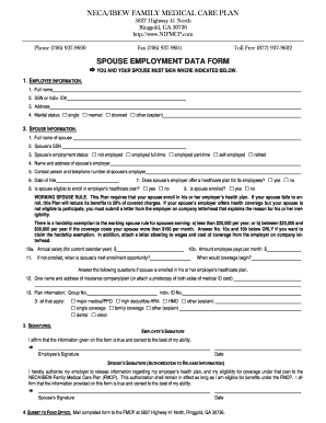Employment Data Form - Fill Online, Printable, Fillable, Blank ...