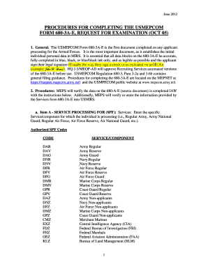 Fillable Online Procedures for completing the usmepcom form 680-3a ...