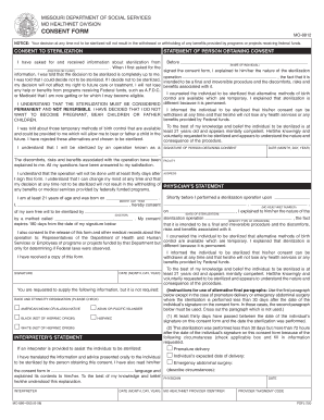 Mo Consent Form  Blank Consent Form