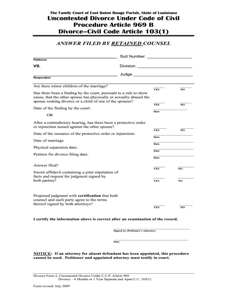 graphic relating to Free Printable Divorce Papers for Louisiana known as Divorce Papers - Fill On the net, Printable, Fillable, Blank