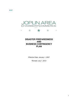 To view Joplin's Disaster and Recovery Plan. - Chamber Organizer