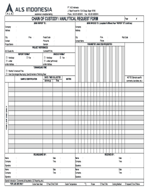 Chain Of Custody Form Pdf - Fill Online, Printable, Fillable ...
