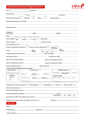 Joint Account Form - Fill Online, Printable, Fillable, Blank ...