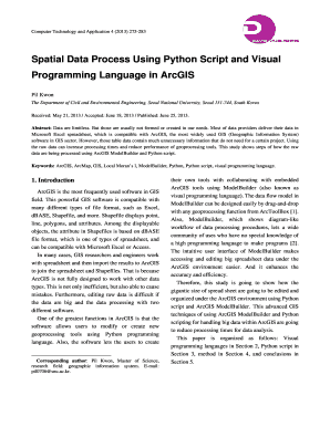 Spatial Data Process Using Python Script and  - David Publishing