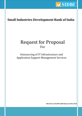 Request for Proposal - SIDBI