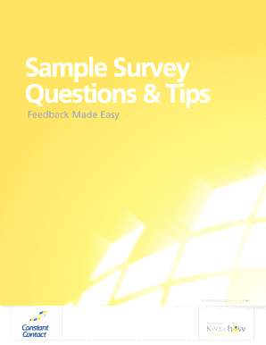 Sample Survey Questions & Tips - Constant Contact