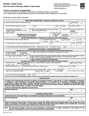 cigna pharmacy claim form Templates - Fillable & Printable Samples ...
